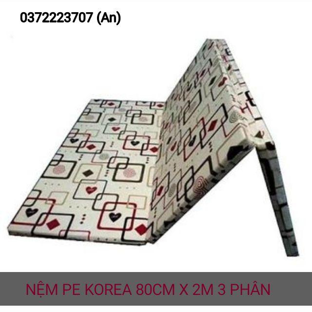 [Mã HLNOITHAT giảm 10% tối đa 500K đơn 500K] Nệm gấp pe korea hàn quốc (80cm x 2m).cao 3 phân