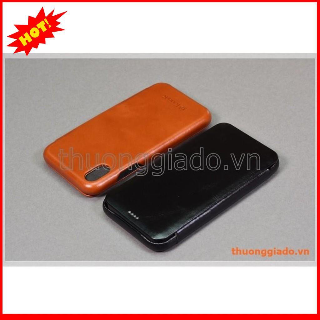 Bao da cầm tay iPhone XR (6.1″), hiệu ICarer, da bò mịn – BẮC TỪ LIÊM
