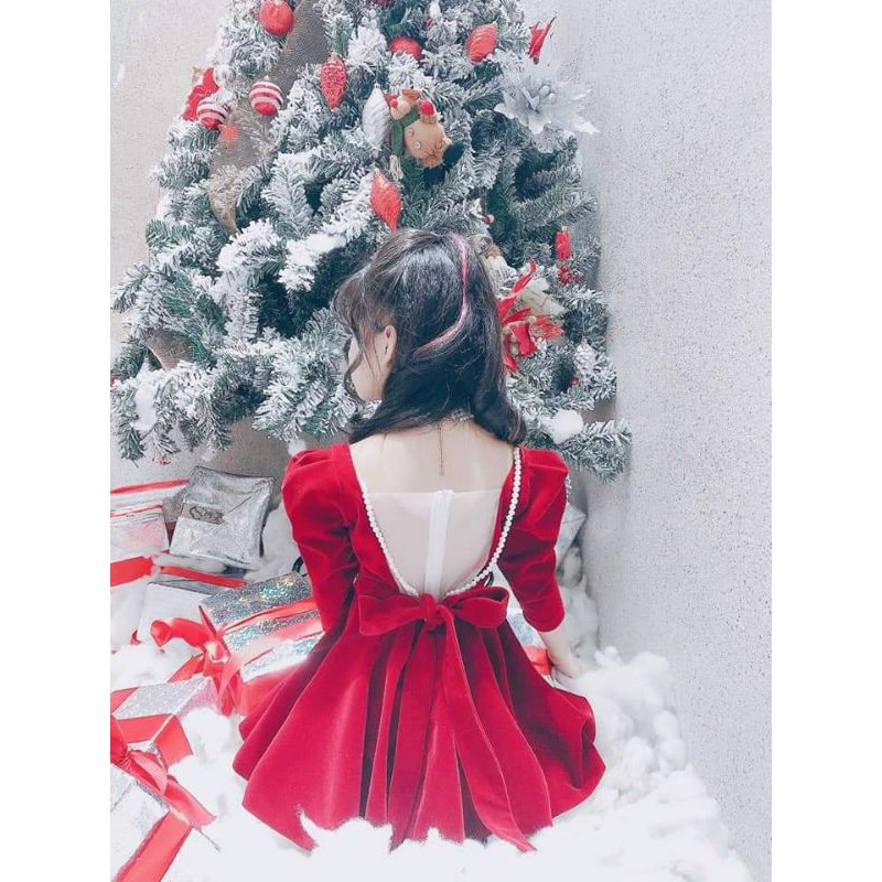 Váy nhung tiểu thư cho bé gái 15-30kg