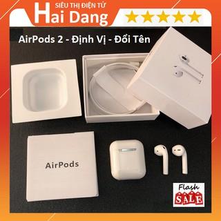 Tai Nghe Bluetooth Cảm Ứng AirPods 2 Định Vị Đổi Tên - Cảm Biến Tháo Tai - Sạc Không Dây 2020 thumbnail