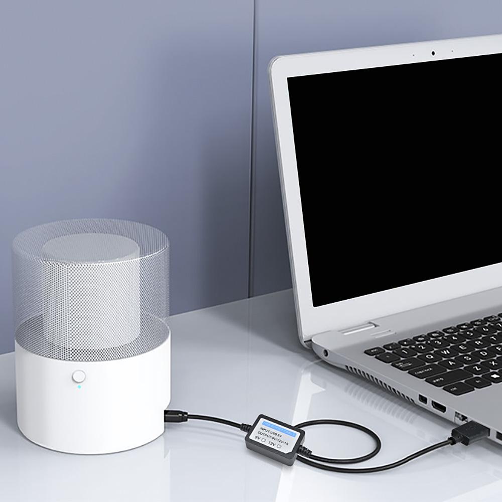 Dây cáp tăng áp Dc 5v  sang 12v Usb sang Dc 5.5x2.1mm 1.3m mô-đun dây nguồn cho thiết bị dẫn Wifi