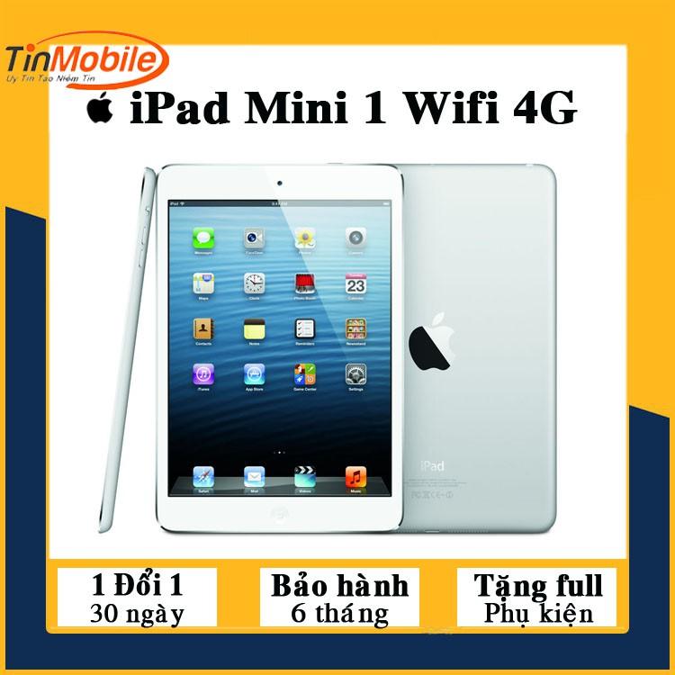 Máy Tính Bảng iPad Mini - 64Gb/ 32Gb/ 16Gb (Wifi + 4G) - Zin Đẹp 99% - Đầy đủ phụ kiện