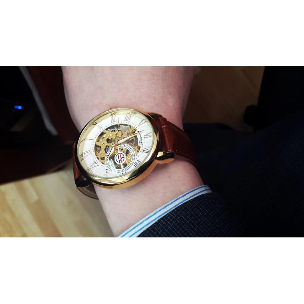 Đồng hồ cơ nam Forsining Handwinding H099M DÂY DA/ DÂY LƯỚI lộ máy