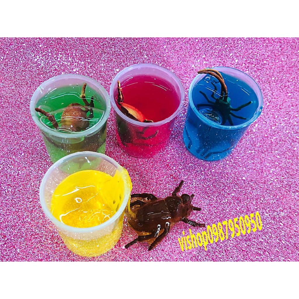 đồ chơi slime sâu bọ côn trùng - lọ slime dẻo mã ZLT19 S6 in 1