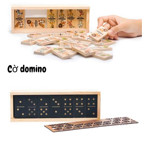 Domino bằng gỗ nhiều mẫu giải trí trí tuệ cho cả nhà