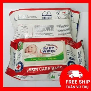Khăn giấy ướt không mùi Baby Wipes mềm mịn cho bé 1 gói 50 tờ lau sạch dưỡng da tiện dụng thumbnail