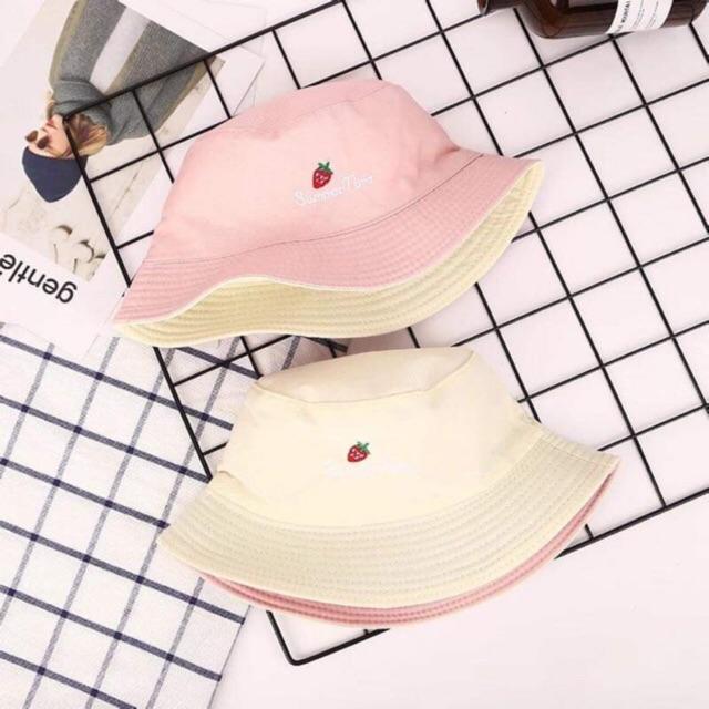 mũ bucket 2 mặt 2 màu khác nhau