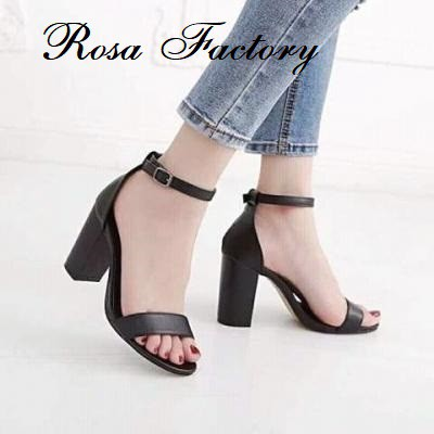 Giày cao gót 7 phân bản sáp bít gót Rosa_Factory - CG-0116