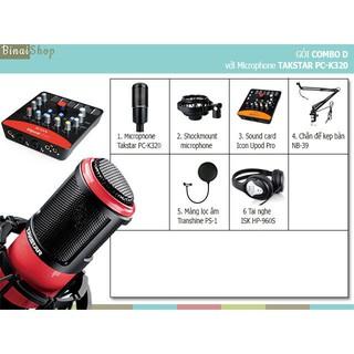 Combo studio phòng thu âm với microphone Takstar PC-K320