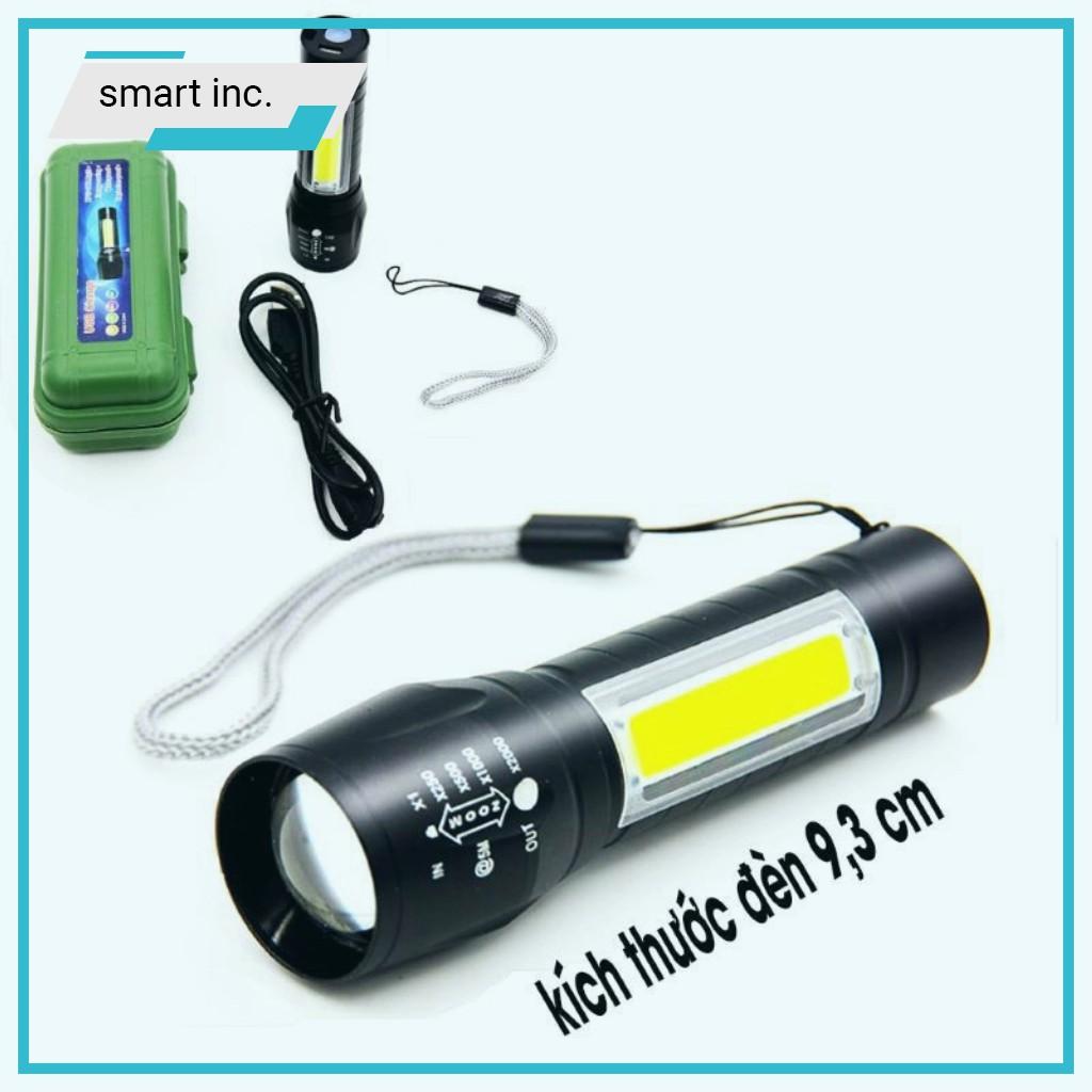 Đèn Pin Siêu Sáng Mini Bóng Led XPE COB Zoom Phóng To 😈FOLLOW😈 Chống Nước  Cầm Tay Chuyên Dụng Sạc Điện USB Nhỏ Gọn