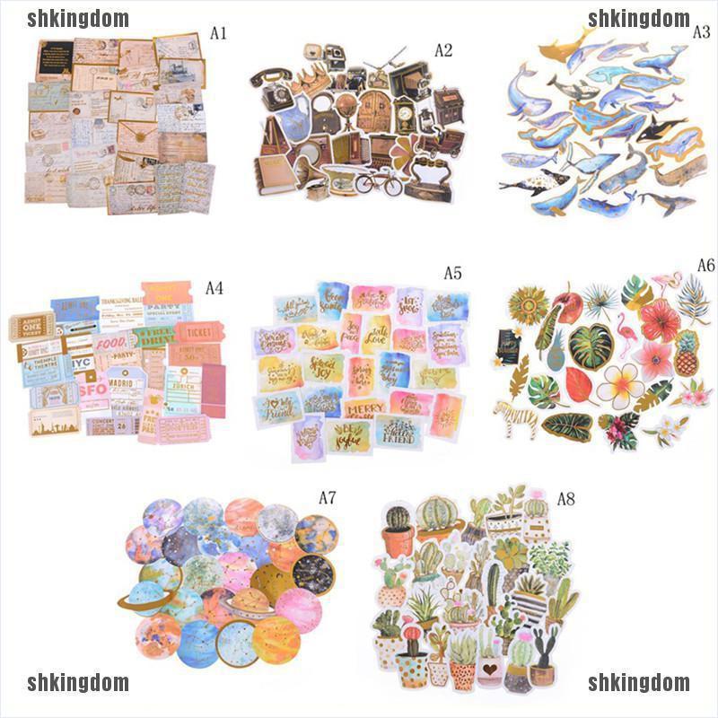 shking☀24 PCS/pack Sticker Decor DIY Ablum Diary Scrapbooking Label Sticker Stationery
