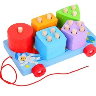 Đồ chơi xe kéo thả hình rèn luyện tư duy cho bé