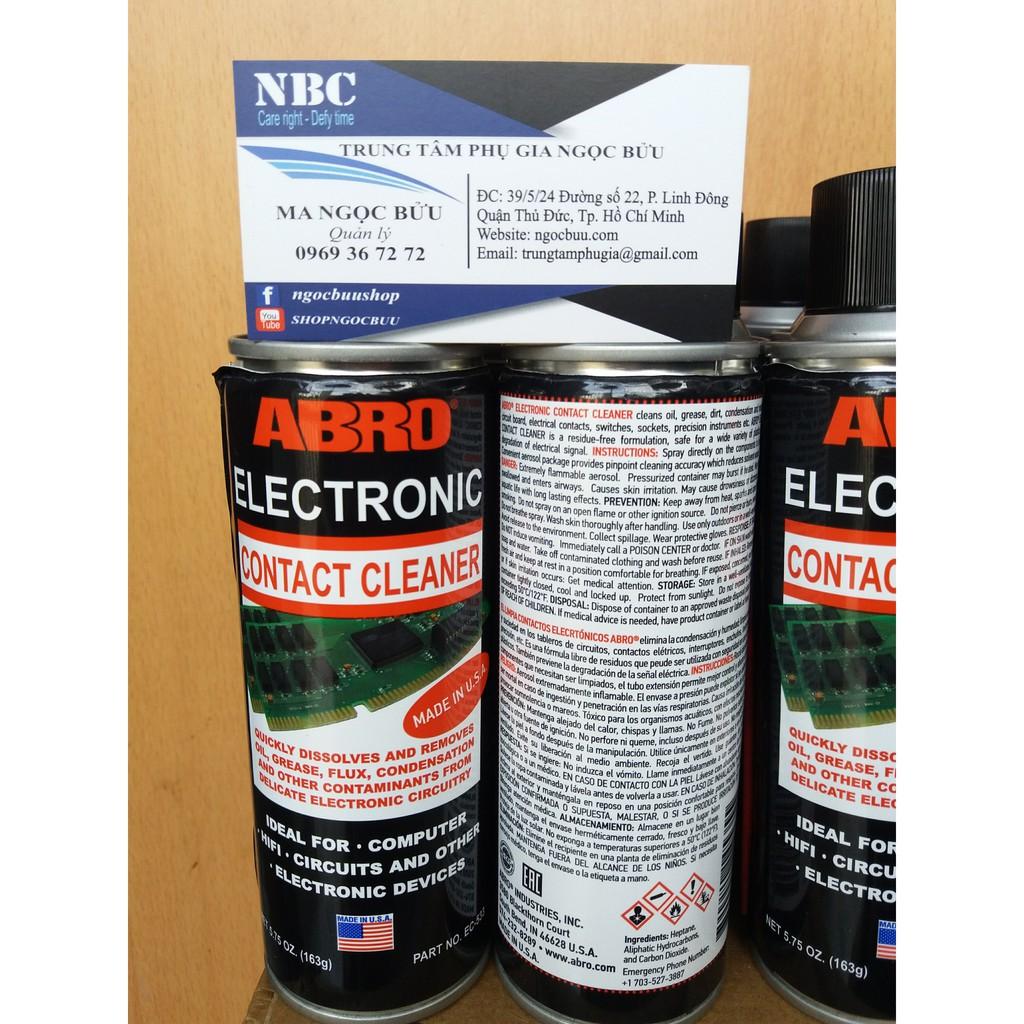 Dung dịch vệ sinh tiếp điểm điện tử ABRO EC-533 Electronic Contact Cleaner
