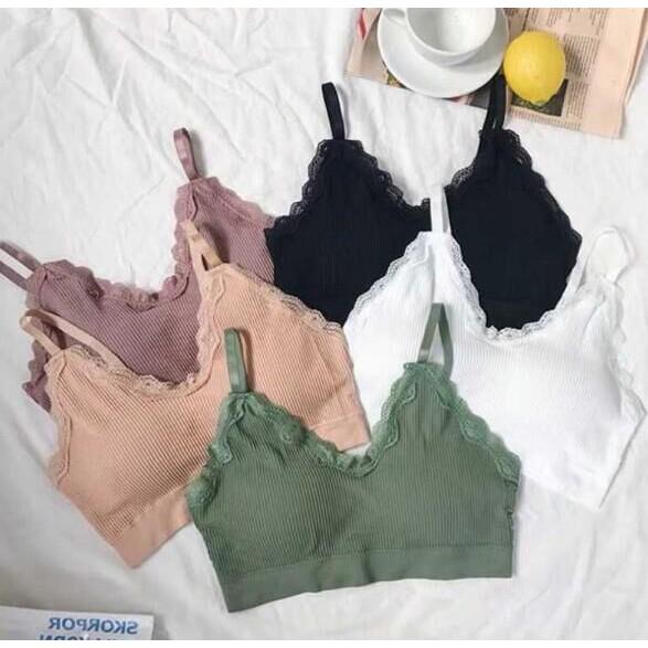 (พร้อมแจ้ง) สตรี push up bra กีฬาชุดชั้นในเซ็กซี่สบายๆ ระบายอากาศ bra