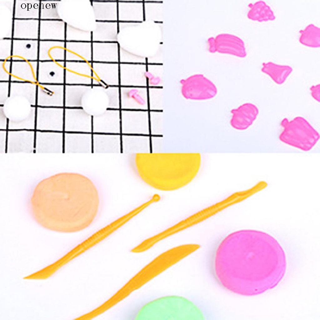op New Plastic Slime Plasticine Choi Clay Tools and Round Storage Box Containers with Lids