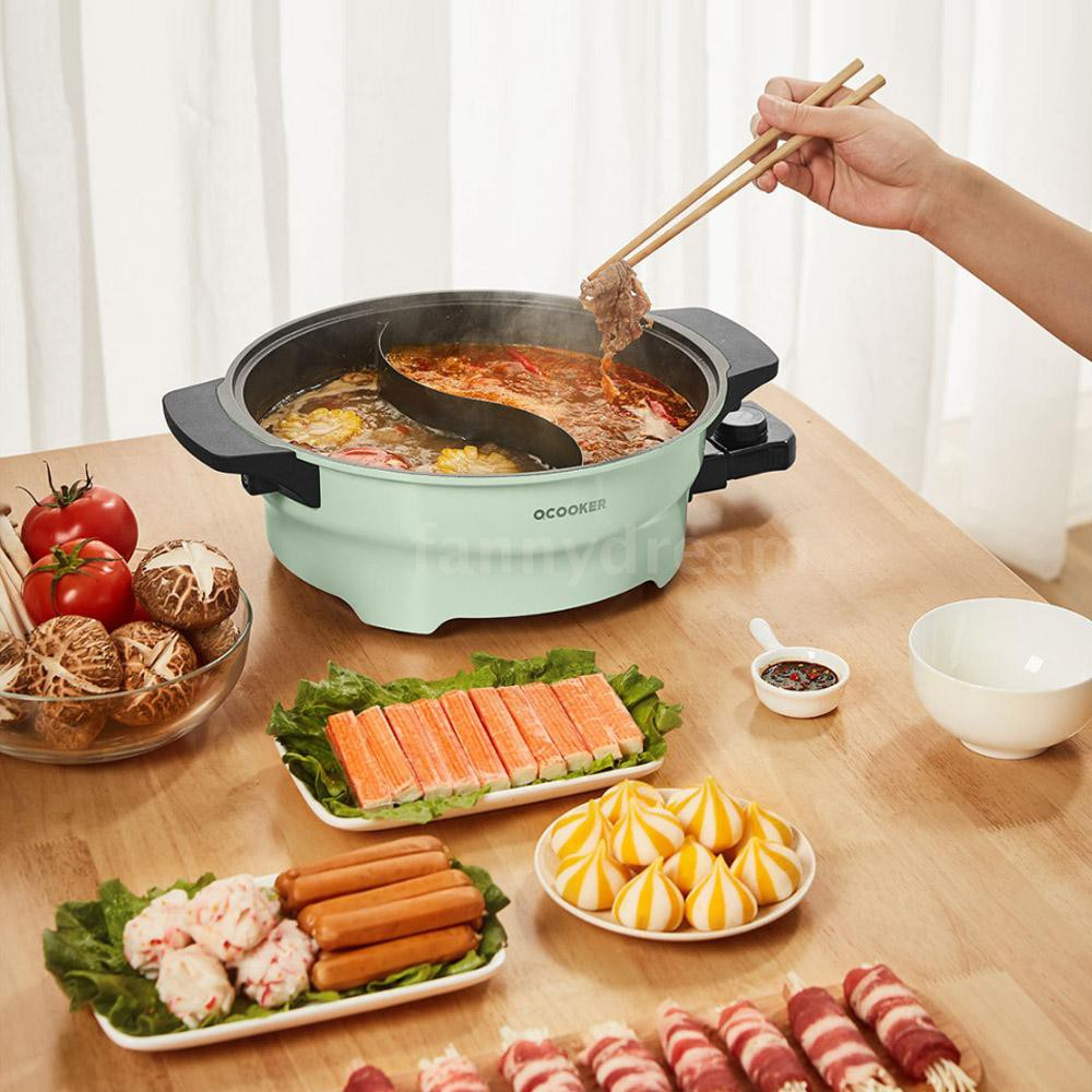 Xiaomi OCOOKER Hot Pot Twin Divided Two-Flavors Cookware Little Sheep Pot Hot Pot Soup Stock Pot Winter Party Cooking To