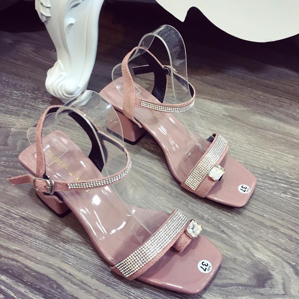 Giày cao gót sỏ ngón cao cấp gắn đá dáng hàn quốc - mã 770