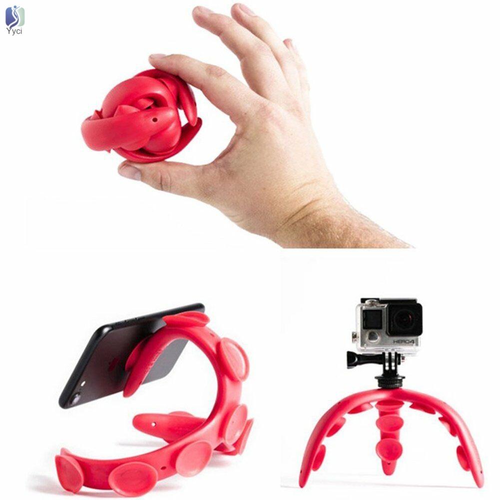 Giá silicon đỡ điện thoại hình bạch tuộc 3 chân linh hoạt có giác hút