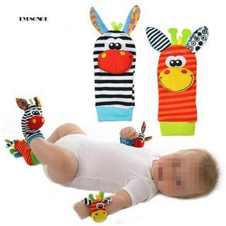 ♕Lovely Infant Baby Kids Foot Socks Rattles finders Glove Toys Developmental