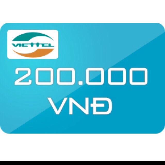 Thẻ viettel 200k (nạp trực tiếp) - 3370644 , 688896464 , 322_688896464 , 186999 , The-viettel-200k-nap-truc-tiep-322_688896464 , shopee.vn , Thẻ viettel 200k (nạp trực tiếp)