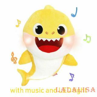 ღ𝓂ℰBaby Shark Plush Singing Plush Toys Music Song Doll English Creative Gift Toy