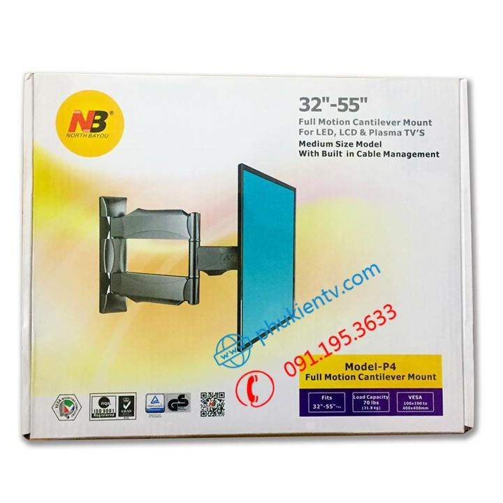 [ Chính Hãng ] Giá treo tivi xoay đa năng NB P4 32 - 55 inch - Giá Treo Tivi Góc Tường Tiện Lợi