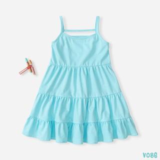 [Mã FASHIONXANH94 giảm 10K đơn 50K] Váy Bé Gái 2 Dây Chất Liệu Thun Cotton Cao Cấp BELLO LAND 5 Màu thumbnail
