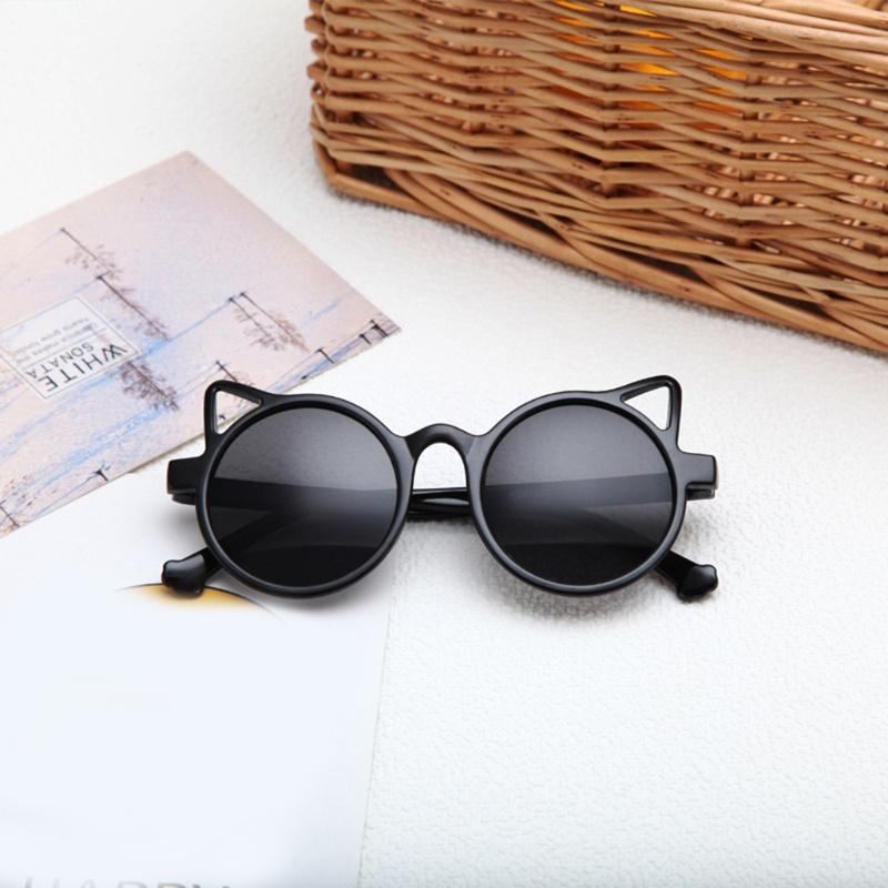 KING Kids Girls Boys Sweet Cat Ear UV400 Protection Sunglasses PC Toddlers Sun Shades