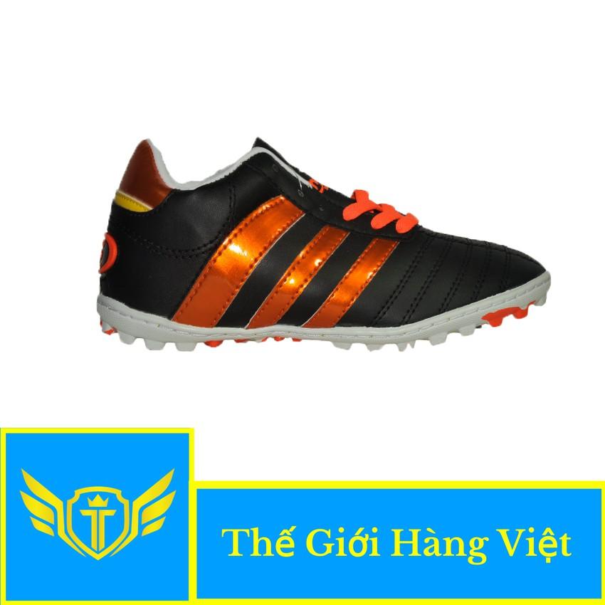 Giày Đá Bóng Sân Cỏ Nhân Tạo CP124C ( Đen Cam)