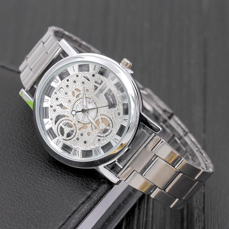 Đồng hồ nam Modiya cao cấp dây đeo kim loại lịch lãm DH102