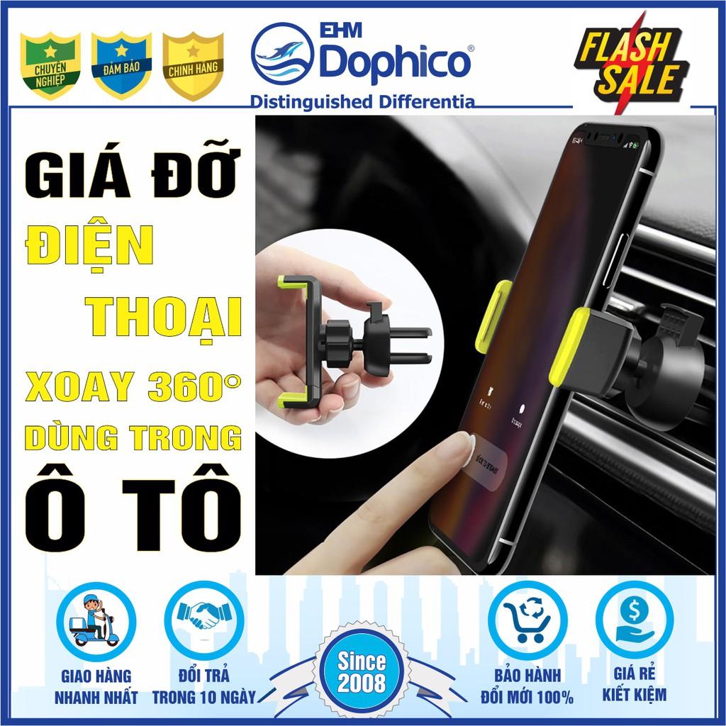 Giá đỡ điện thoại xoay 360 độ dùng trong ô tô – Tiện lợi – Chắc chắn – Sang trọng