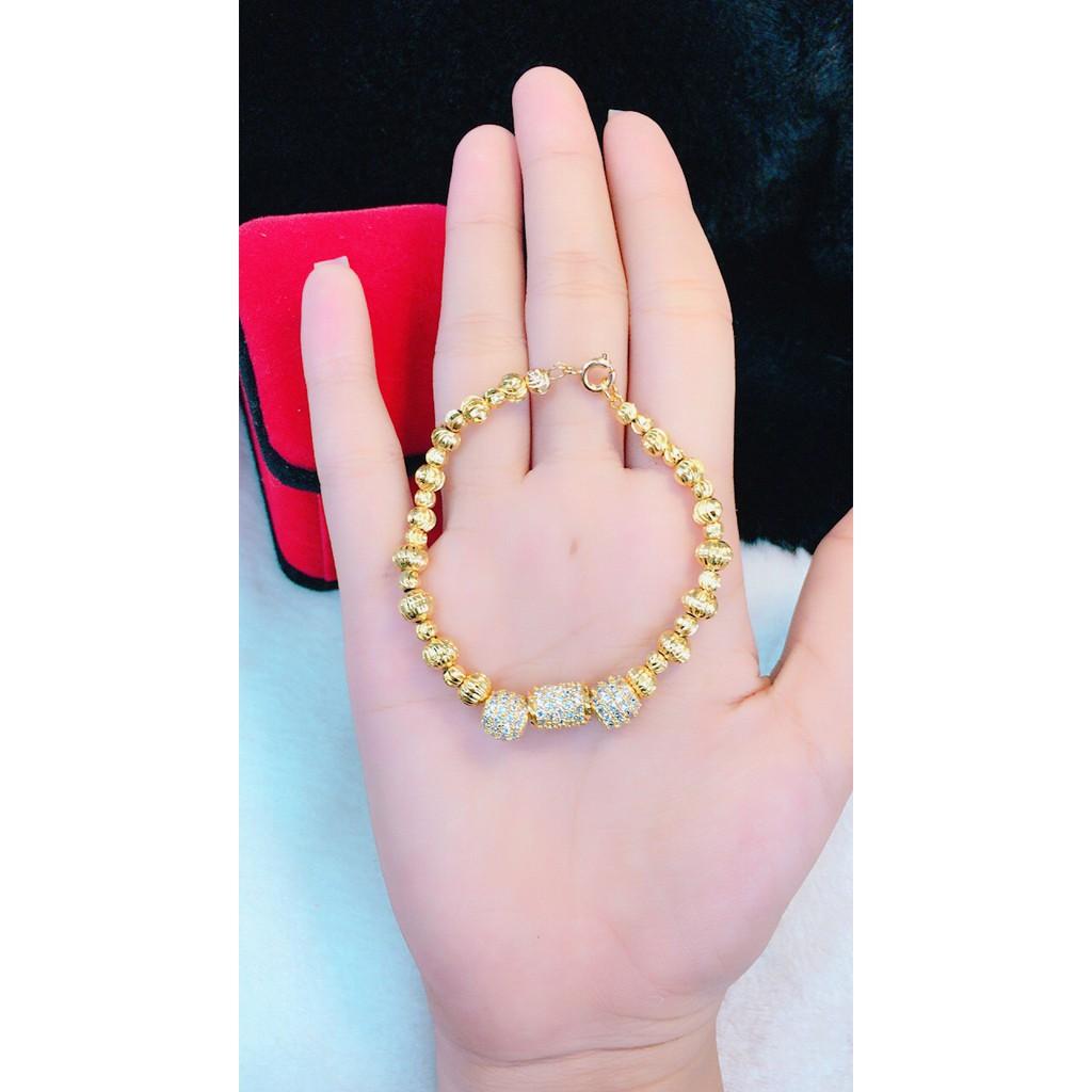 Vòng nữ chạm bi mạ vàng THTV1