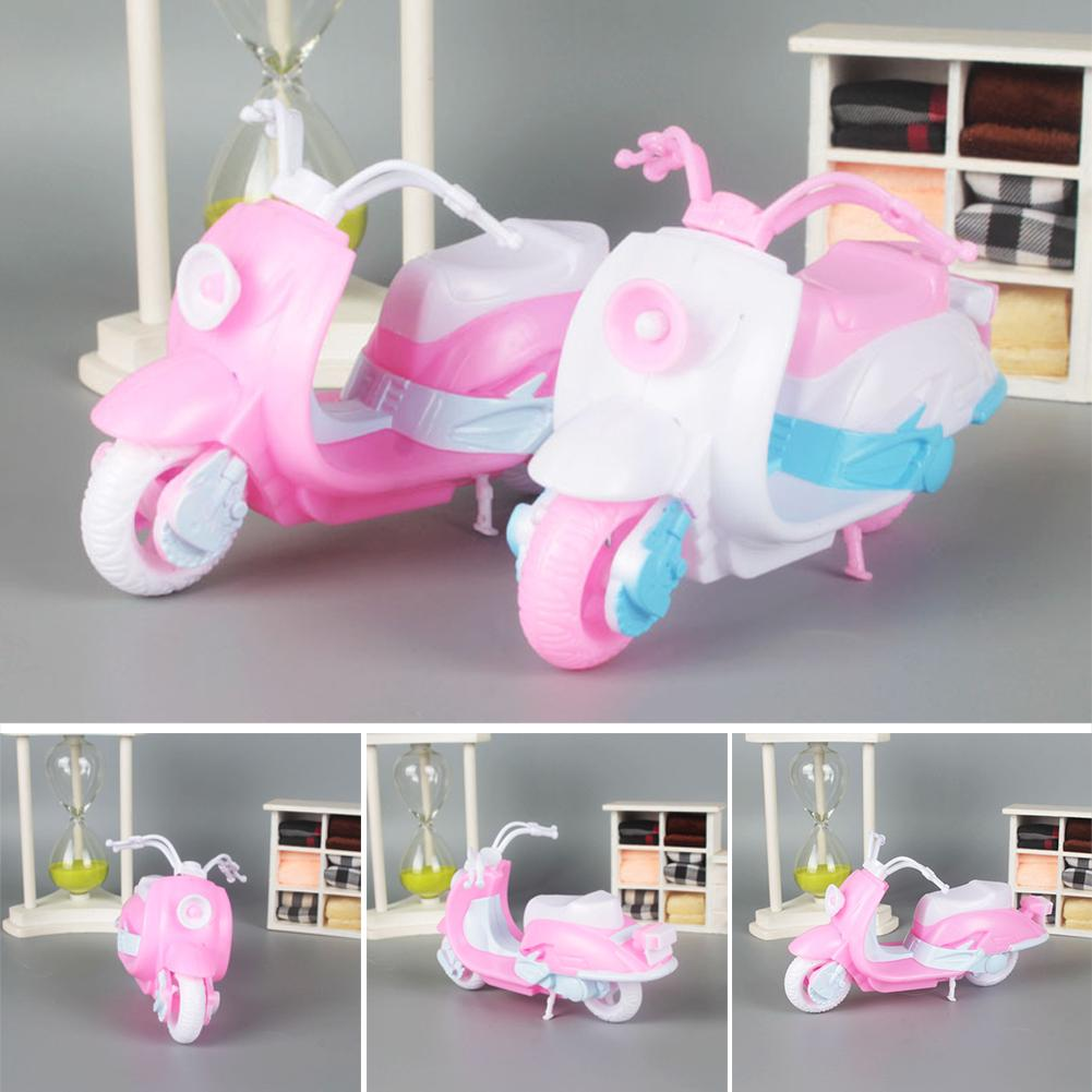 Boys Girls Children Doll Accessories Lovely DIY Kids Toy Motorcycle Cute Gifts Pretend Play Mini Random Color