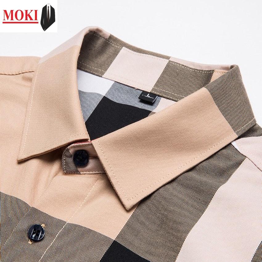Áo sơ mi kẻ sọc thời trang nam MOKI áo sơ mi nam cao cấp thời trang nam tính lịch lãm