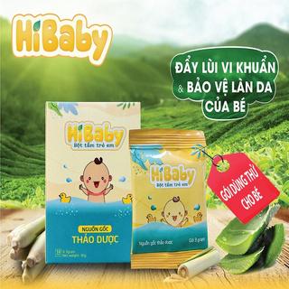Bột tắm trẻ em HIBABY [1 GÓI THỬ ] - Nguồn gốc thảo dược tự nhiên, Kháng khuẩn, Giảm ngứa, Rôm sảy thumbnail