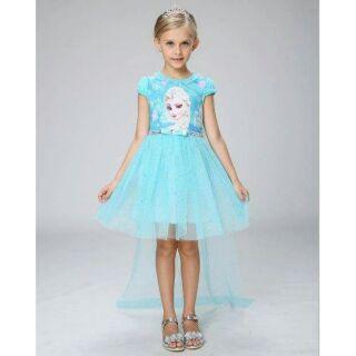 💖 Váy  đã về + tà dài + vương miện, tóc, gậy xanh hoặc hồng