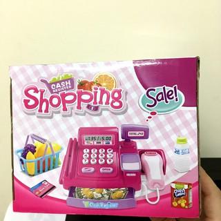 Bộ đồ chơi đồ hàng, đồ chơi siêu thị, chơi tính tiền siêu thị dùng pin hộp 37cm CF8608
