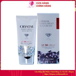 [Nhập Khẩu Hàn Quốc] Kem Chống Nắng 3W CLINIC CRYSTAL WHITE MILKY SUN CREAM SPF 50/ PA +++ Hàn Quốc 50ml