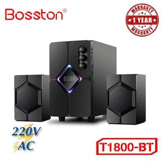 Loa vi tính 2.1 Bosston T1800 TB Led RGB Bluetooth USB Thẻ nhớ – VSP phân phối