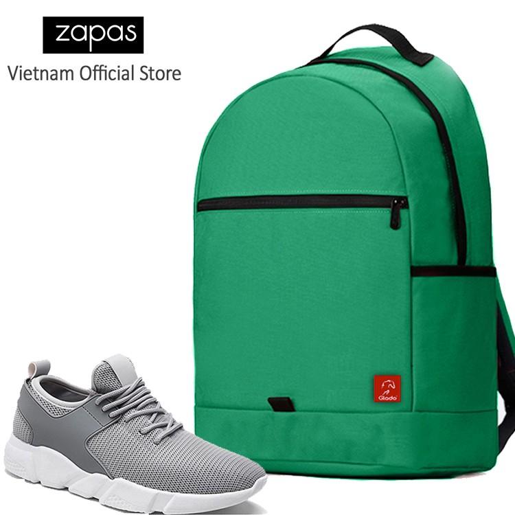 Combo Balo Du Lịch Glado Classical BLL006 (Xanh Lá) Và Giày Sneaker Thể Thao Zapas GS080 (Xám)