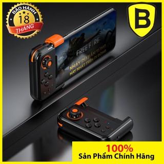 Bộ điều khiển trò chơi không dây Baseus Gamo gamepad pad điện thoại cần điều khiển màu đen