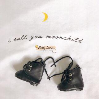 Giày boot da cho doll 20cm