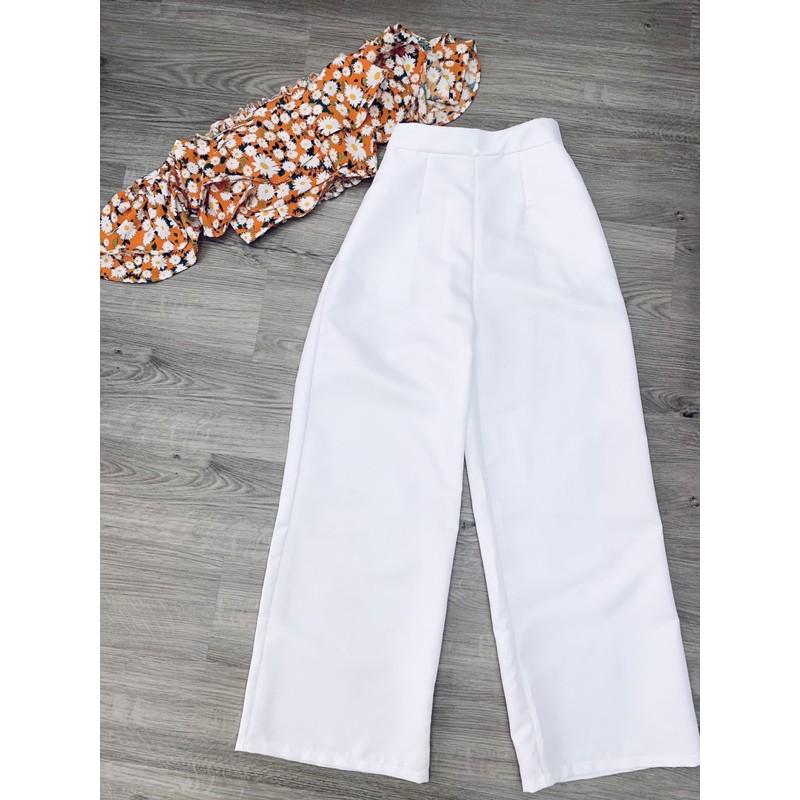 Mặc gì đẹp: Dáng chuẩn với [Freeship] Sét dự tiệc sang trọng quần trắng ảnh thật