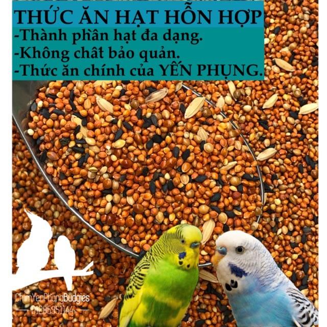 1KG | THỨC ĂN HỖN HỢP cho YẾN PHỤNG, chim cảnh nhỏ.