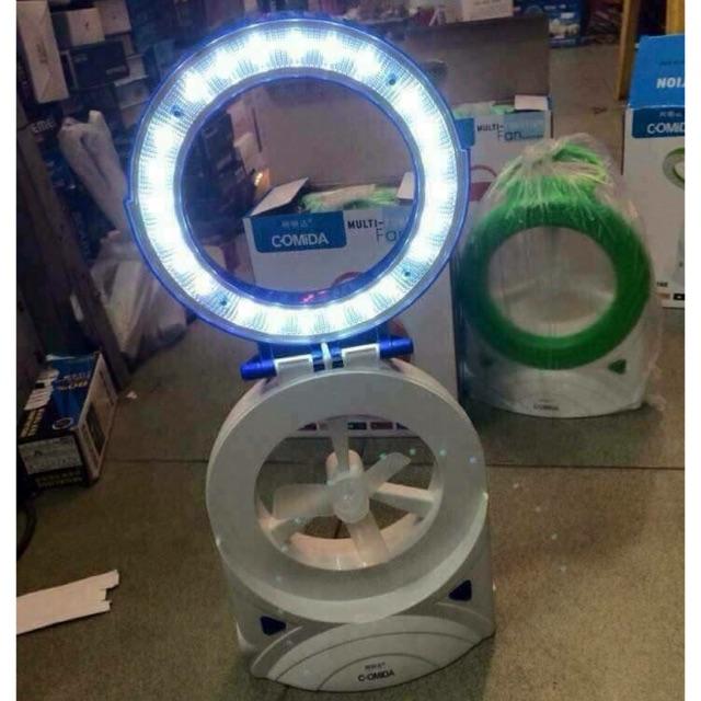 Quạt sạc tích điện kèm đèn - 9954330 , 404762591 , 322_404762591 , 130000 , Quat-sac-tich-dien-kem-den-322_404762591 , shopee.vn , Quạt sạc tích điện kèm đèn