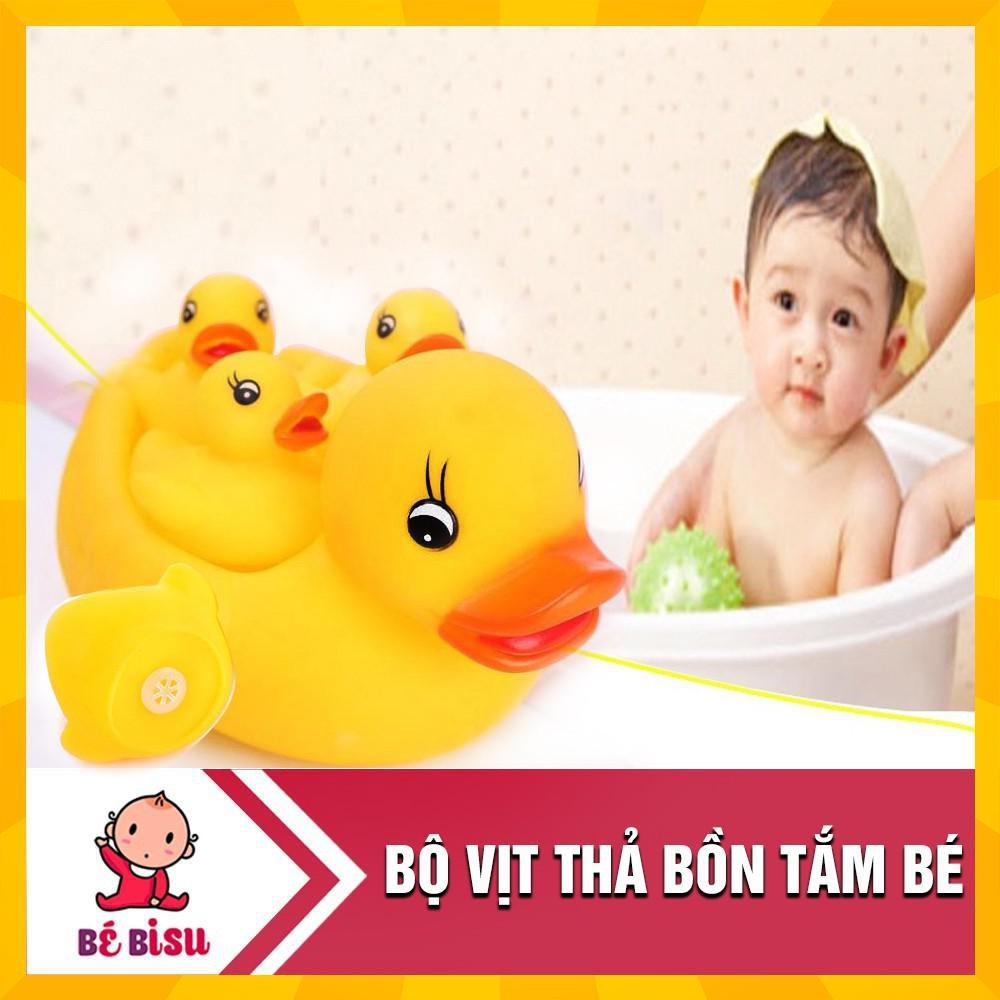 [Trợ giá] [Nhập mã TOYMAY15 giảm 15K] Combo 2 Đàn vịt thả bồn tắm 1 mẹ 3 con cho bé
