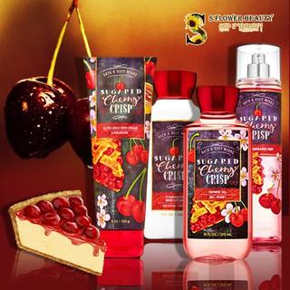 Sugared Cherry Crisp  | Bộ Sản Phẩm Gel Tắm - Dưỡng Thể - Xịt Thơm Toàn Thân Bath & Body Works