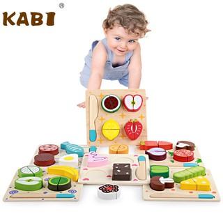 [KM MUA 5 TẶNG 1] Set tập cắt rau củ hoa quả đồ ăn Kabi cho bé phát triển kỹ năng