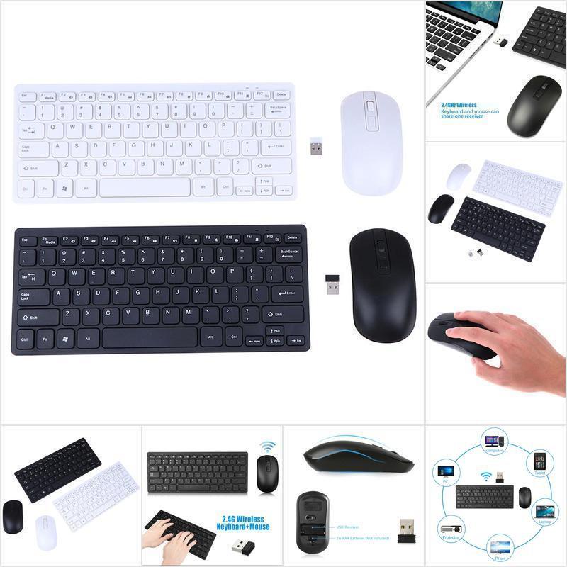 Bộ Bàn Phím + Chuột Không Dây 2.4ghz Cho Laptop / Pc