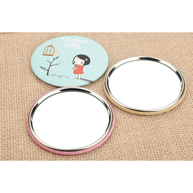 Lẻ 1 Gương mini cầm tay Hàn Quốc dễ thương - Gương Mini Bỏ Túi